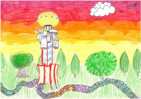 Malwettbewerb Hundertwasser, Samira R.