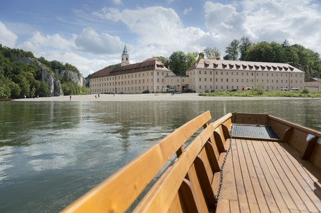 Mit der Zille am Kloster Weltenburg
