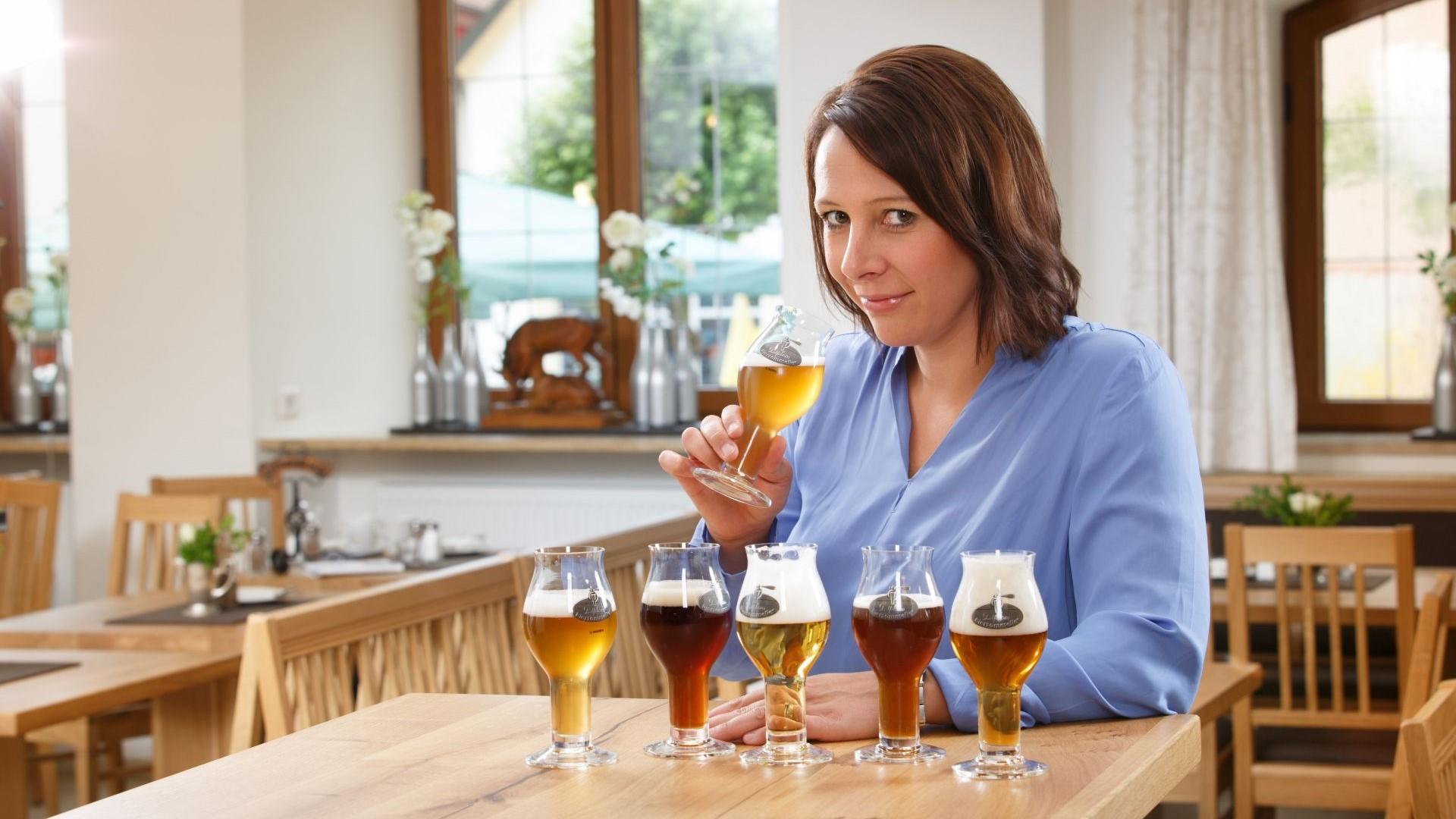 Biersommeliere Sandra Schmid vom Gasthaus Schwan