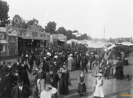 Historisches Bild vom Gillamoos in Abensberg
