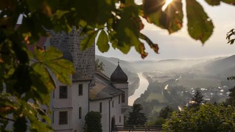Abendstimmung an der Burg Prunn