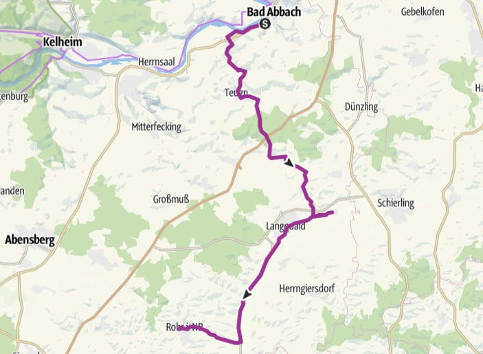 Radlsommer - Strecke Bad Abbach - Rohr i.NB