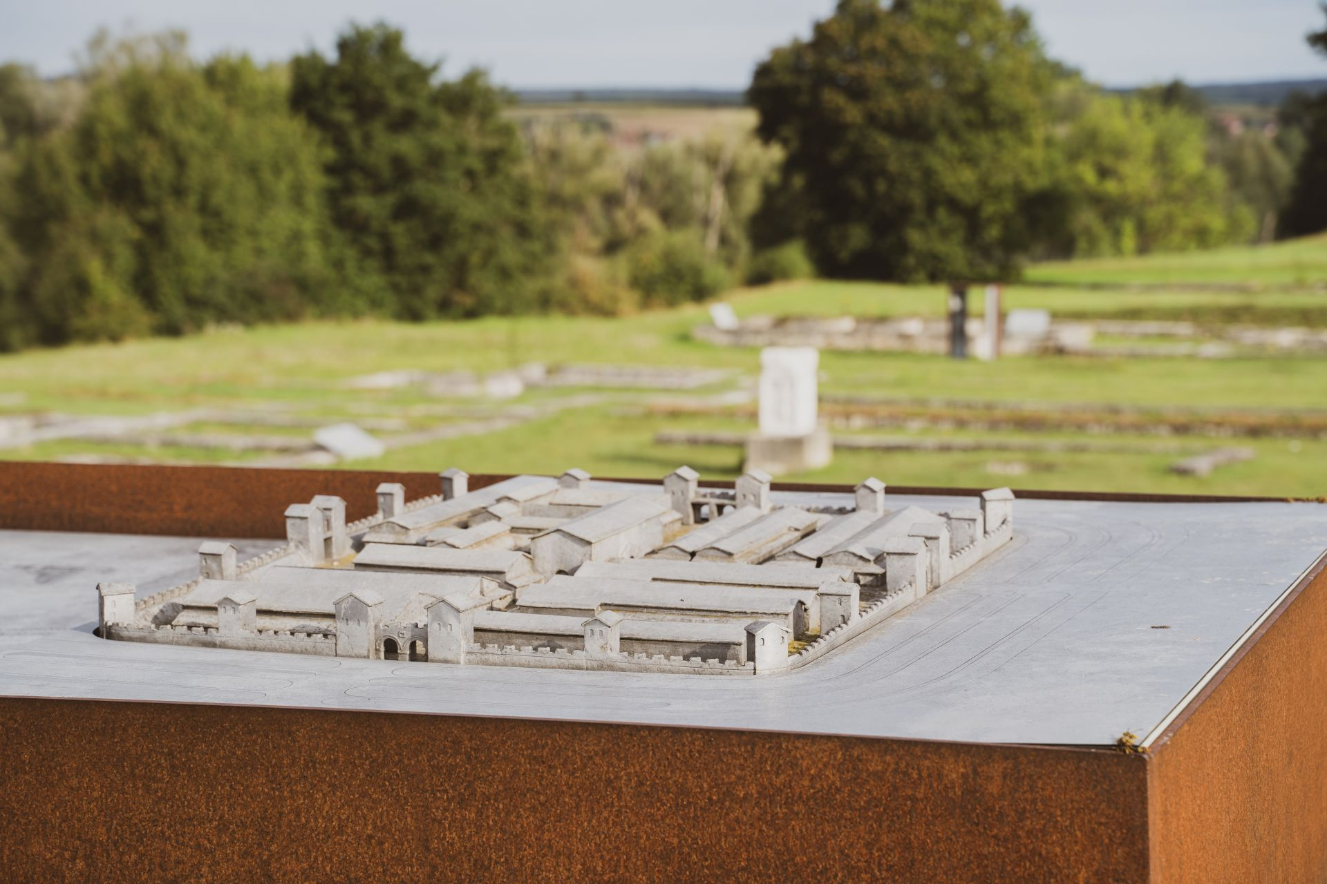 Modell des Kastells Abusina bei Eining
