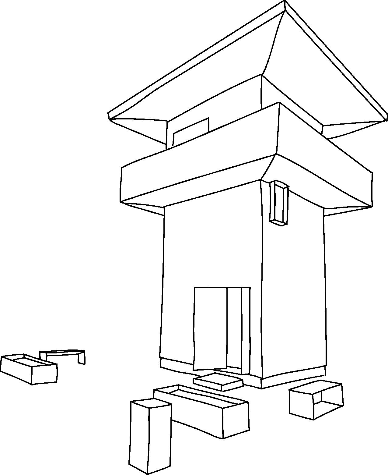 Illustration Limes-Turm bei Hienheim
