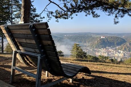 Blick vom Aussichtspunkt Schwammerl auf Riedenburg