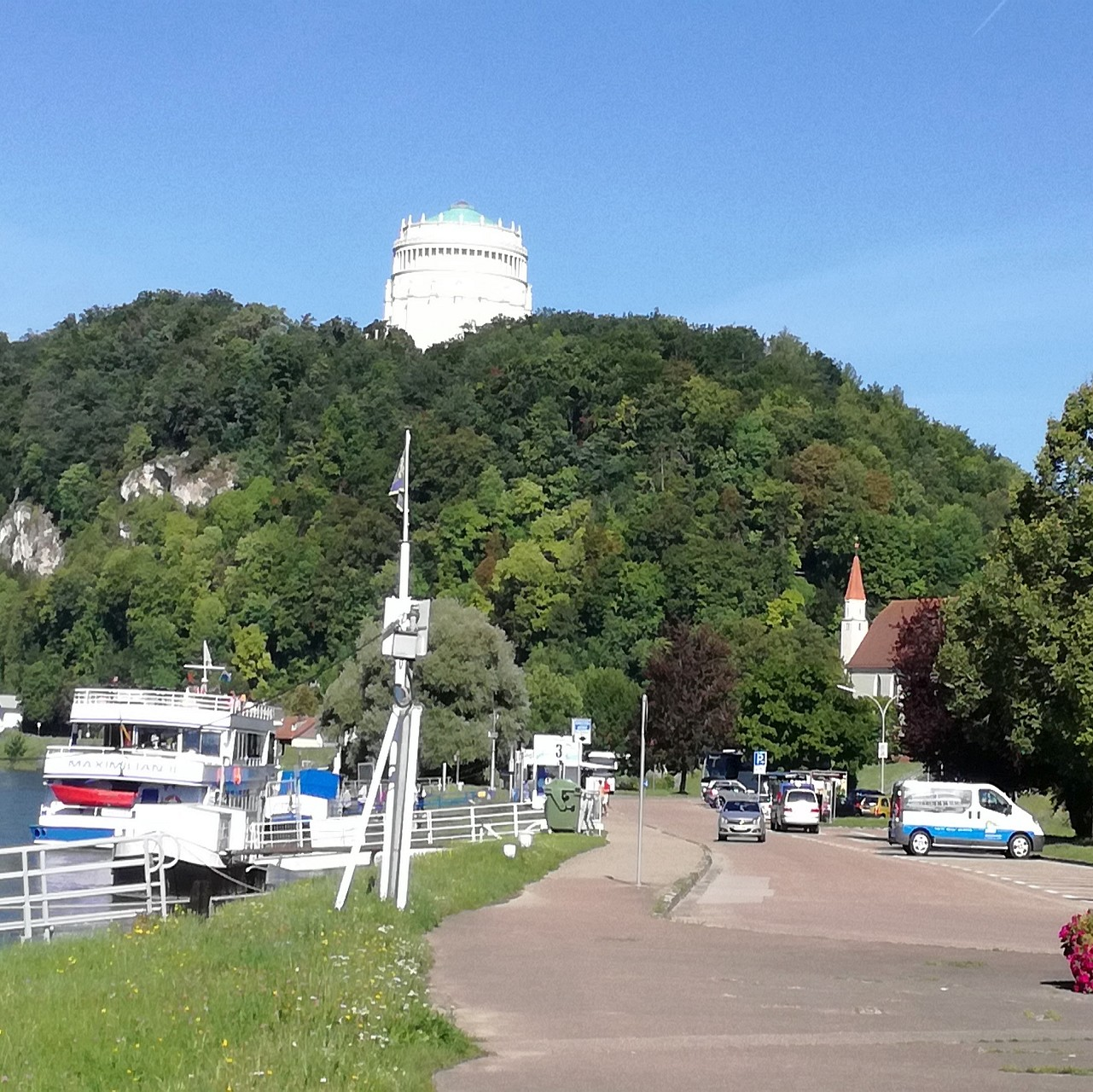 Schiffsanlegestelle Donau in Kelheim