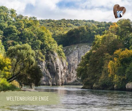 """Naturschutzgebiet """"Weltenburger Enge"""" bei Kelheim"""