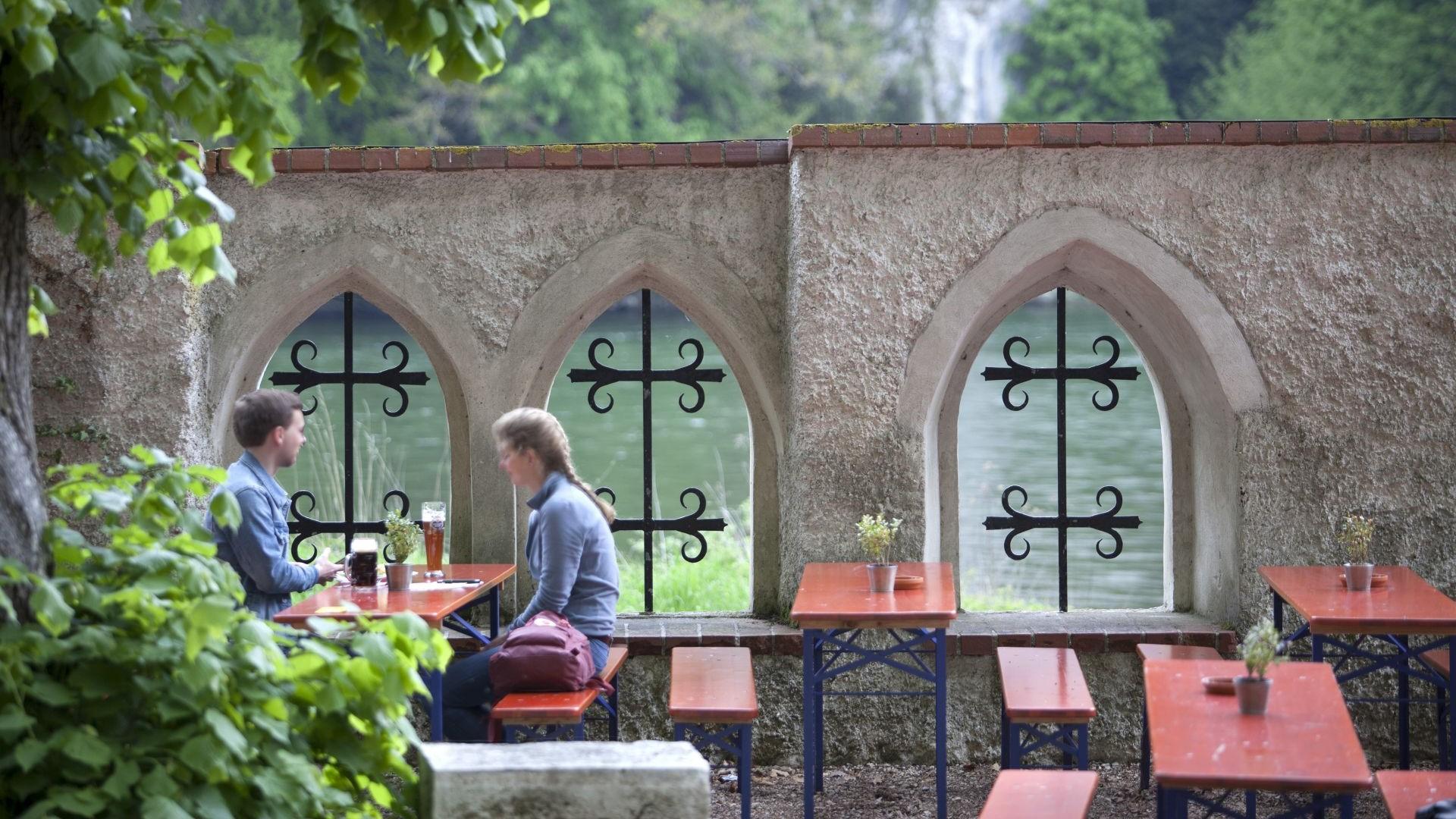 Biergarten in der Einsiedelei Klösterl