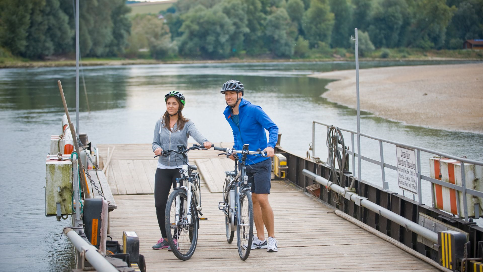 Radeln auf dem Donauradweg