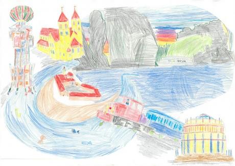 Malwettbewerb Hundertwasser, Seraphina S.