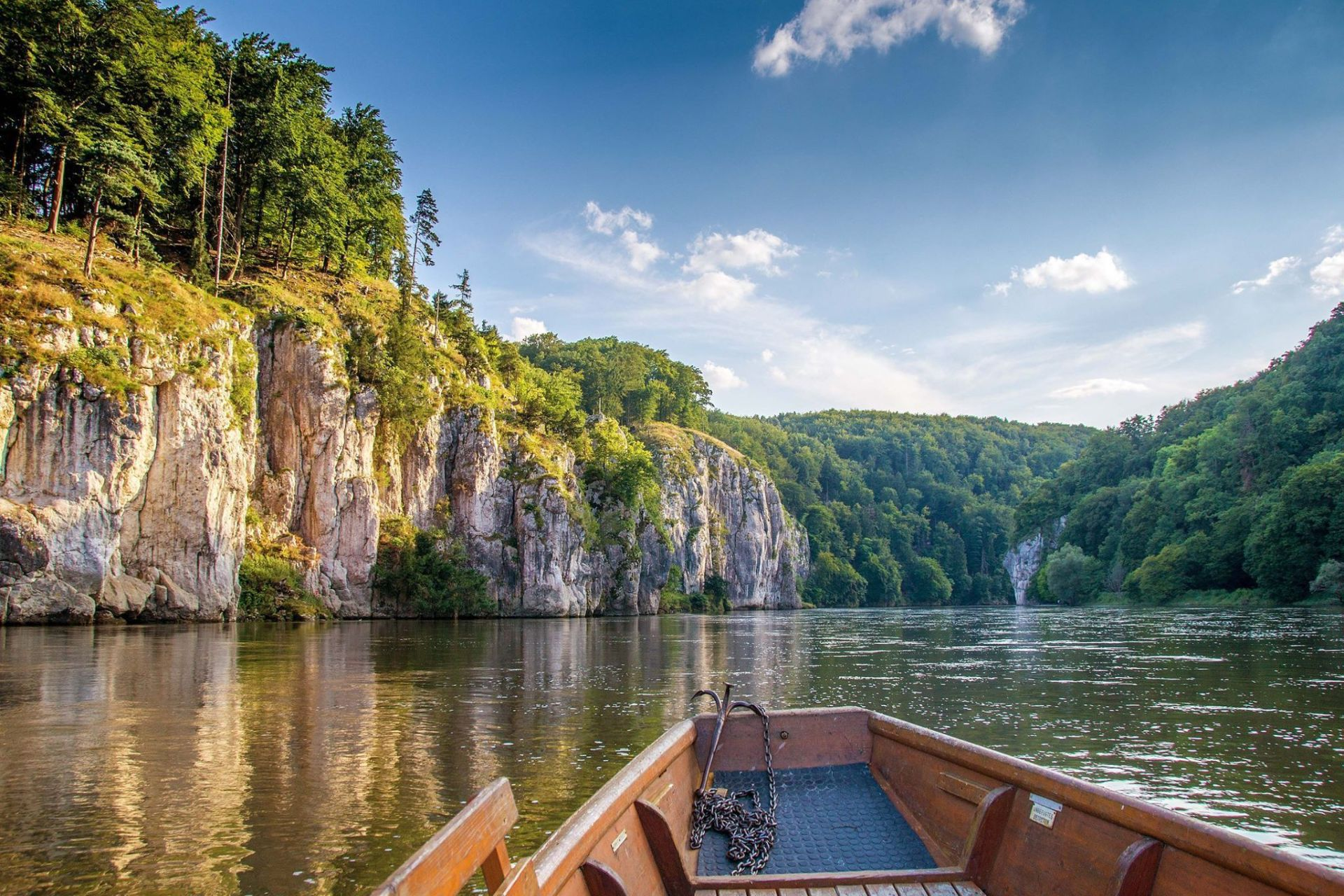 Am Donaudurchbruch in der Weltenburger Enge bei Kelheim