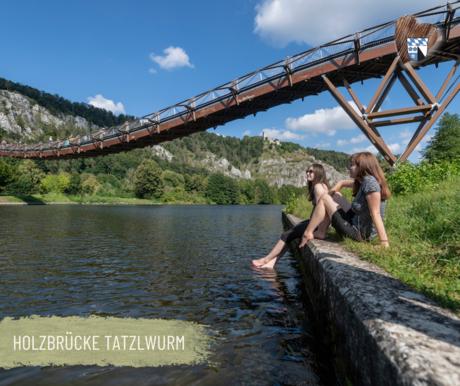"""Die Holzbrücke """"Tatzlwurm"""" bei Essing"""