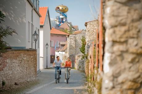 Radfahrer in Abensberg