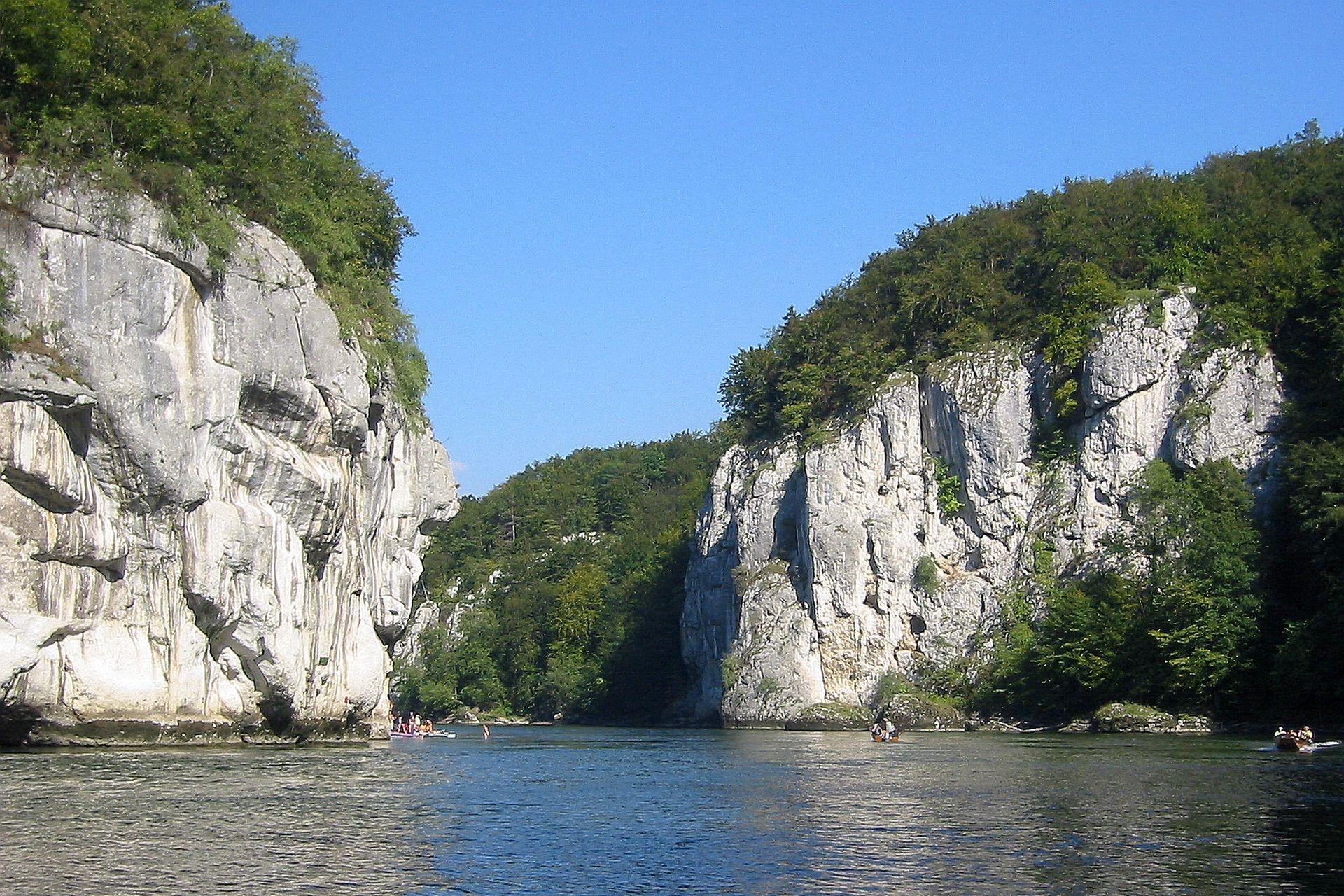 Donaudurchbruch im Naturschutzgebiet Weltenburger Enge