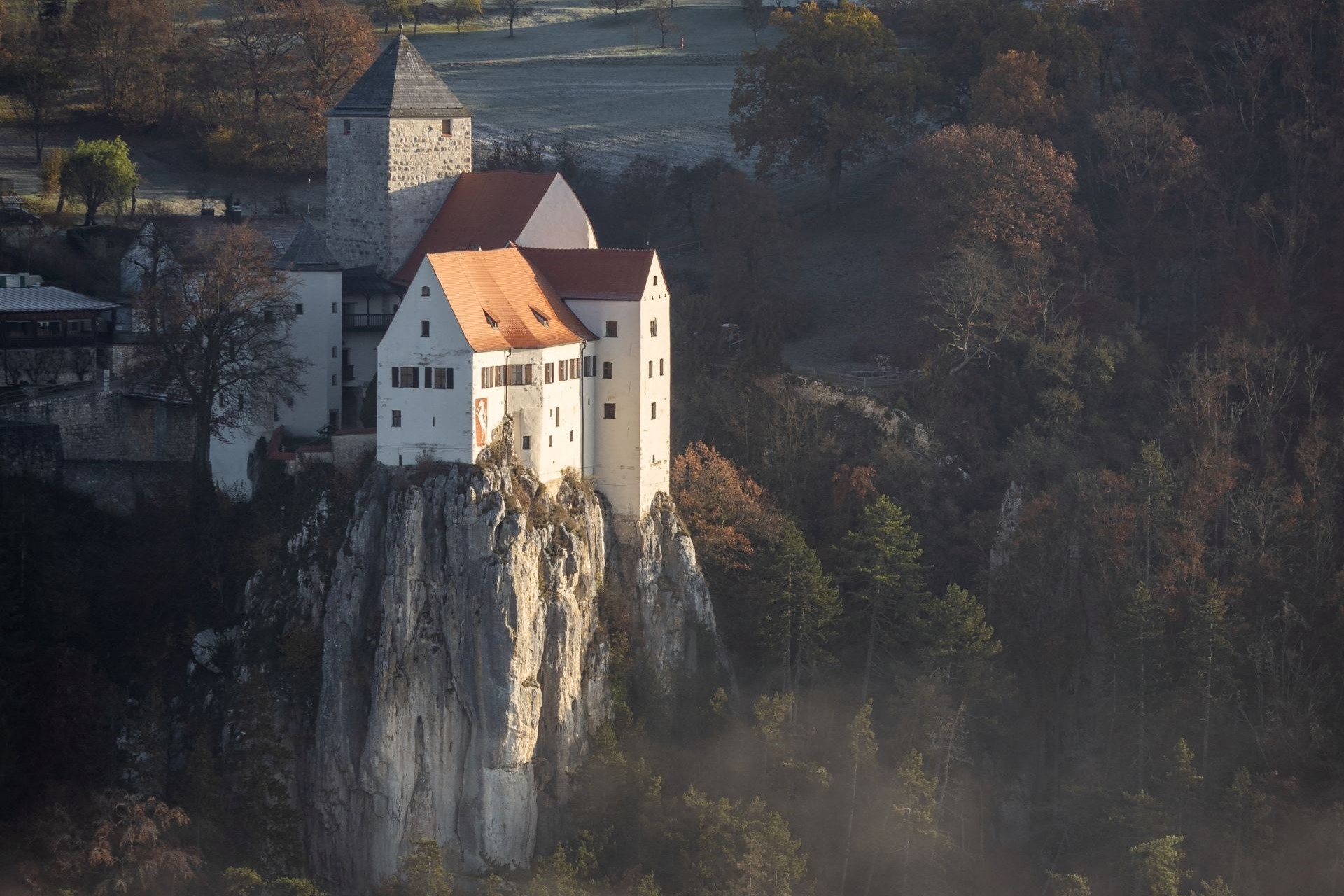 Burg Prunn im Nebel